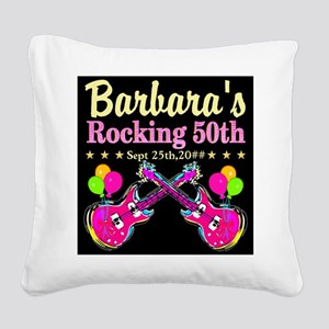 FABULOUS 50TH Square Canvas Pillow