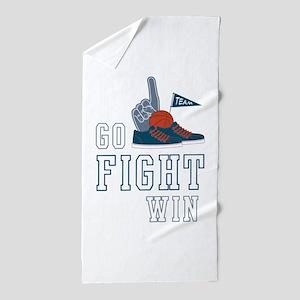 Go Fight Win Beach Towel