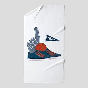 Basketball Team Beach Towel