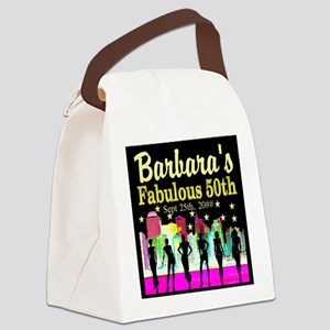FABULOUS 50TH Canvas Lunch Bag