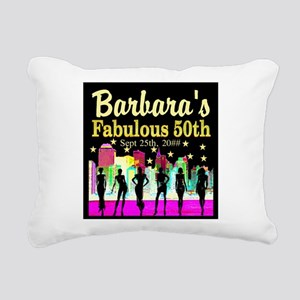 FABULOUS 50TH Rectangular Canvas Pillow