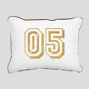 Glitter Number 5 Sports Rectangular Canvas Pillow