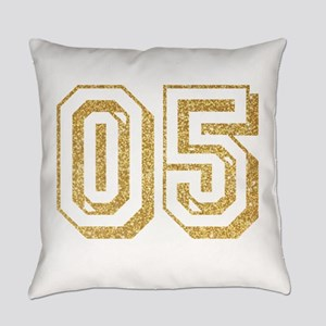 Glitter Number 5 Sports Jersey Everyday Pillow
