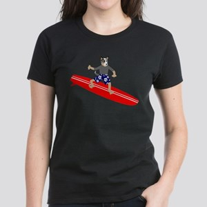 Australian Cattle Dog Surfer Women's Dark T-Shirt