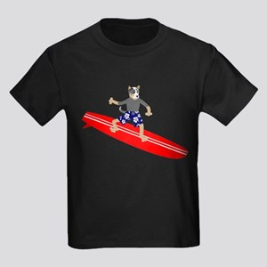 Australian Cattle Dog Surfer Kids Dark T-Shirt