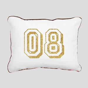Glitter Number 8 Sports Rectangular Canvas Pillow