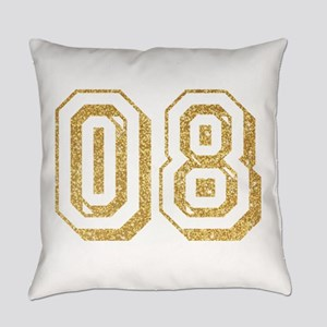 Glitter Number 8 Sports Jersey Everyday Pillow