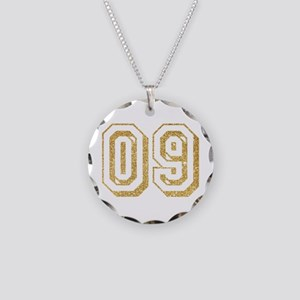 Glitter Number 9 Sports Jers Necklace Circle Charm