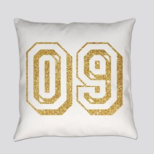 Glitter Number 9 Sports Jersey Everyday Pillow