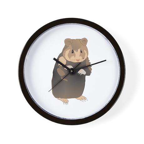 Cute Sitting Hamster Wall Clock