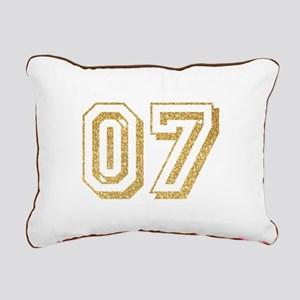 Glitter Number 7 Sports Rectangular Canvas Pillow