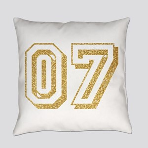 Glitter Number 7 Sports Jersey Everyday Pillow