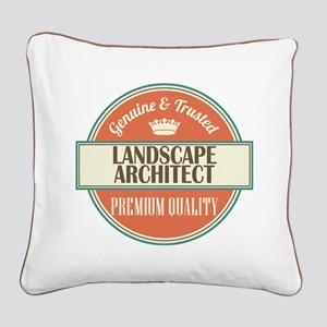 landscape architect vintage l Square Canvas Pillow