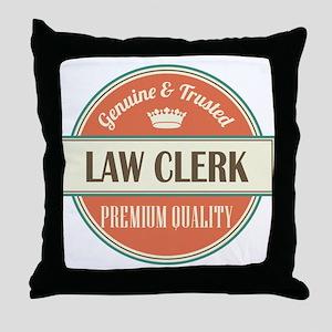 law clerk vintage logo Throw Pillow