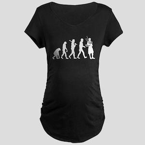 Bagpiper Evolution Maternity T-Shirt