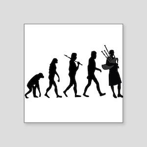 Bagpiper Evolution Sticker