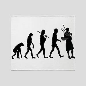 Bagpiper Evolution Throw Blanket