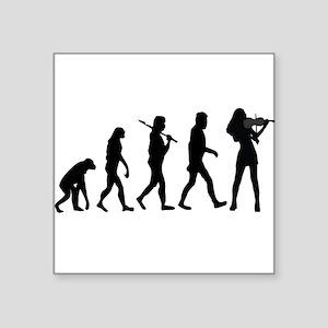 Violinist Evolution Sticker