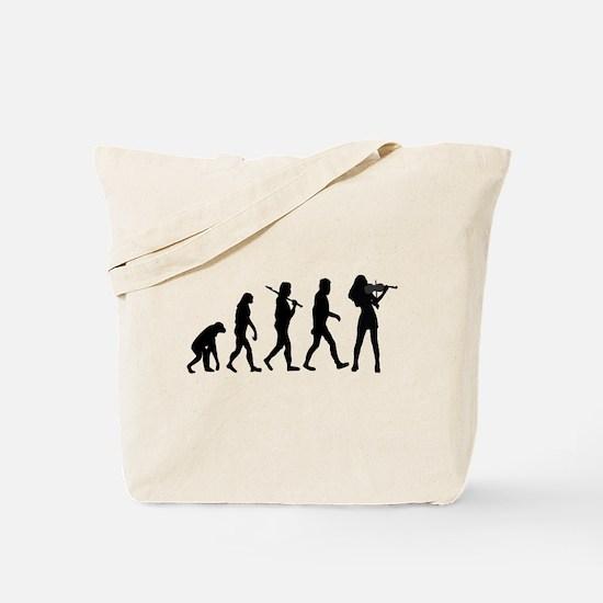 Violinist Evolution Tote Bag