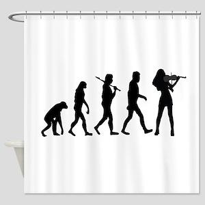 Violinist Evolution Shower Curtain