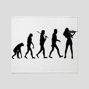 Violinist Evolution Throw Blanket
