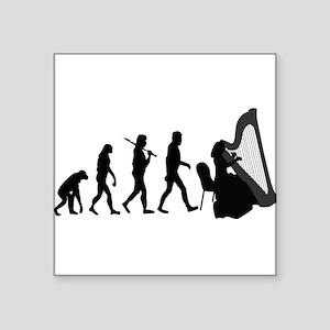 Harp Player Evolution Sticker