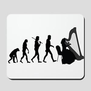 Harp Player Evolution Mousepad