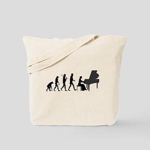 Piano Player Evolution Tote Bag