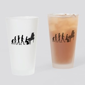 Piano Player Evolution Drinking Glass