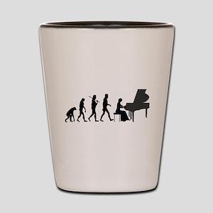 Piano Player Evolution Shot Glass