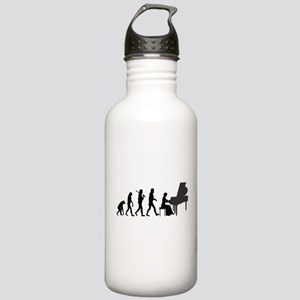 Piano Player Evolution Water Bottle