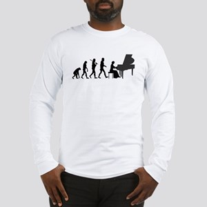 Piano Player Evolution Long Sleeve T-Shirt