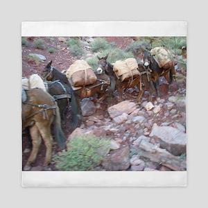 South Kiabab Grand Canyon Mule Ride Pa Queen Duvet