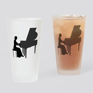 Pianist Drinking Glass
