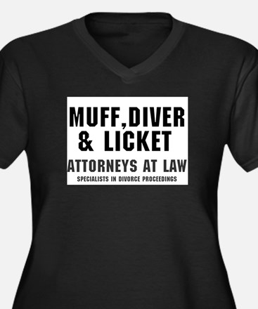 MUFF, DIVER LICKET - ATTORNEYS Plus Size T-Shirt