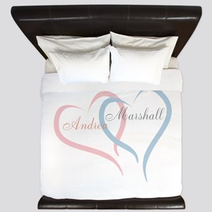 Twin Hearts™ by Leslie Harlow King Duvet