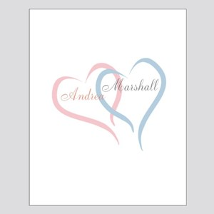 Twin Hearts to Personalize Posters