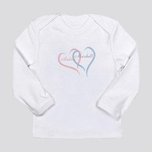 Twin Hearts to Personalize Long Sleeve T-Shirt