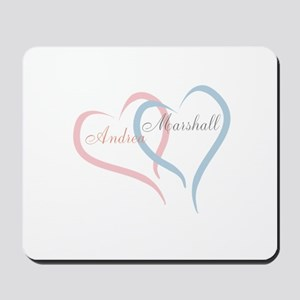 Twin Hearts to Personalize Mousepad