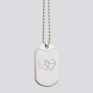 Twin Hearts to Personalize Dog Tags