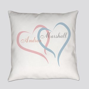 Twin Hearts to Personalize Everyday Pillow