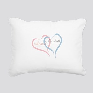 Twin Hearts to Personalize Rectangular Canvas Pill