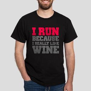 I Run Because I Really Like Wine T-Shirt