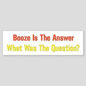 Booze Bumper Sticker