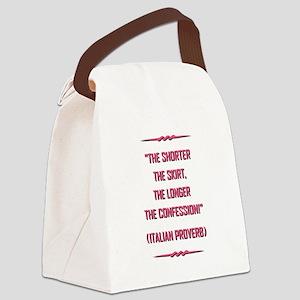 ITALIAN PROVERB Canvas Lunch Bag