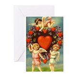 Vintage valentines day Greeting Cards (10 Pack)