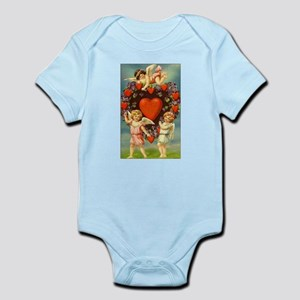 Vintage Valentine 3 Cupids And Red Body Suit