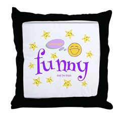 A Funny Thought Throw Pillow