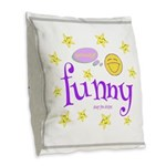 A Funny Thought 2-Sided Burlap Throw Pillow
