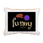 A Funny Thought Black Rectangular Canvas Pillow
